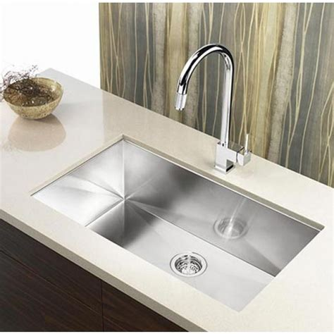 Kitchen Undermount Sink 36 Inch Stainless Steel Undermount Single Bowl Kitchen Sink Zero Radius Design