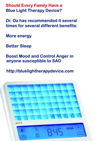 blue light therapy sad dr oz has recommended blue light therapy several times