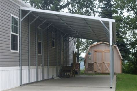 Carport Attached To Garage by Lean To Carports All Steel Northwest