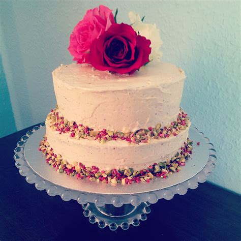 pistachio and rose tiered cake blame it on the brioche
