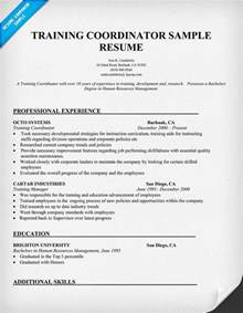example training coordinator resume free resume templates