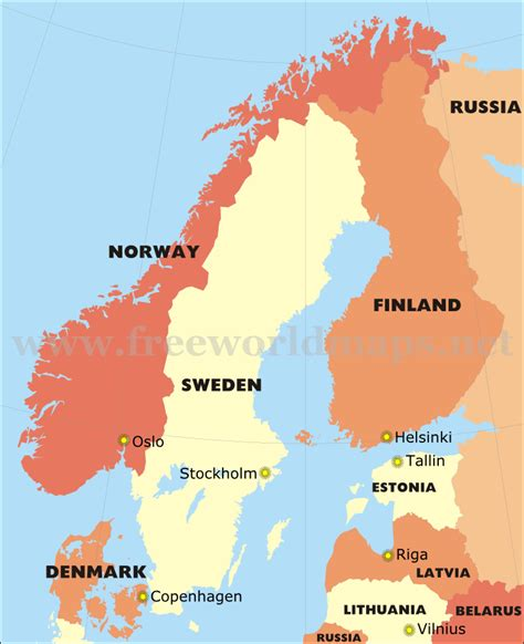 Mba In Scandinavian Countries by Scandinavia Political Map