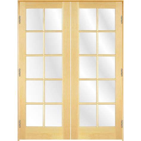 48 Inch Interior Door Shop Reliabilt Solid Clear Glass Pine Interior Door Common 48 In X 80 In Actual