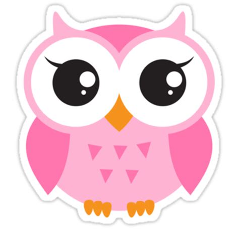Home Decor Owls by Quot Cute Pink Baby Owl Sticker Quot Stickers By Mheadesign