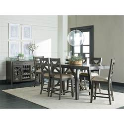 bar height dining room table counter height dining room table with trestle base by