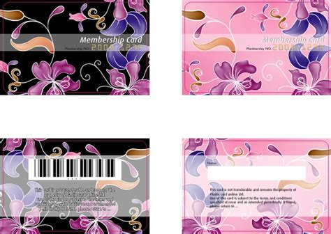 Barcode Membership Card Template by Free Ready Made Plastic Card Template