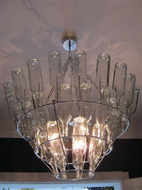 Simple Glass Bottle Chandelier Diy Pinterest Do It Yourself Chandelier