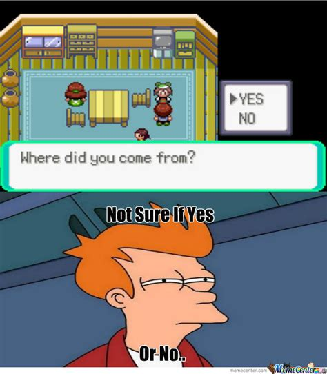 U Yes No by Yes Or No By Zoenotzoey Meme Center