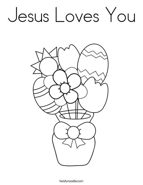 coloring pages jesus loves you jesus loves you coloring page twisty noodle
