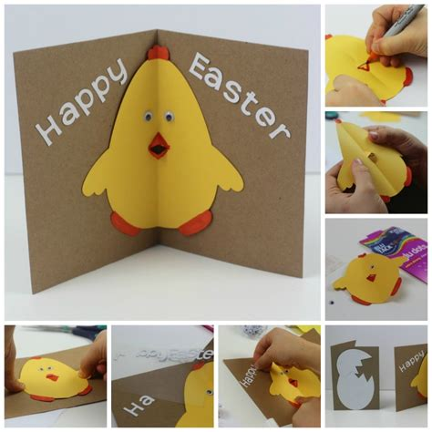 pop out cards how to make easter card with pop out beak in the madhouse