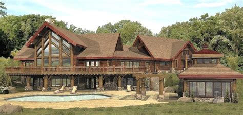 Big Cabins Big Log Cabins Large Log Cabin Home Floor Plans Log