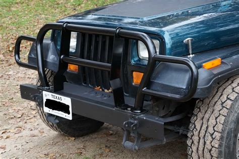 jeep front grill guard rage products euro grille guard for 87 06 jeep wrangler