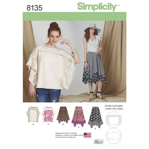 simplicity pattern ease simplicity pattern 8135 misses easy to sew skirt in three