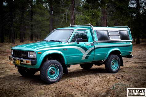 vintage toyota 4x4 that classic 80s color combo 1st gen toyota pickup 4x4