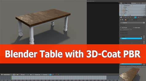 tutorial blender table blender model to 3d coat and back to cycles render