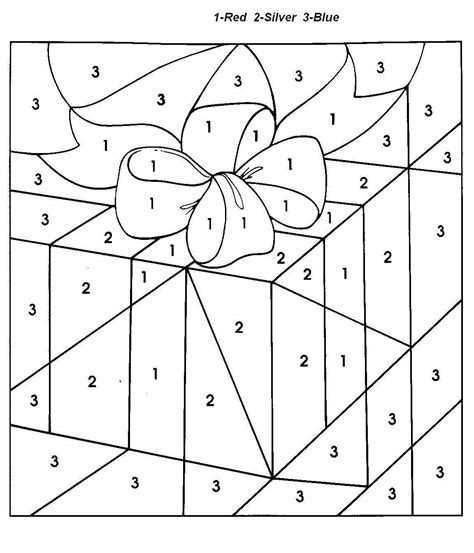coloring pages by numbers for christmas christmas gift color by number coloring pages for kids 91