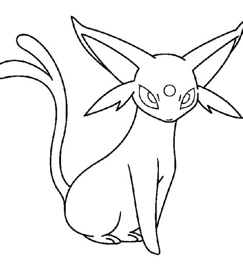 pokemon coloring pages espeon espeon coloring pages coloring home