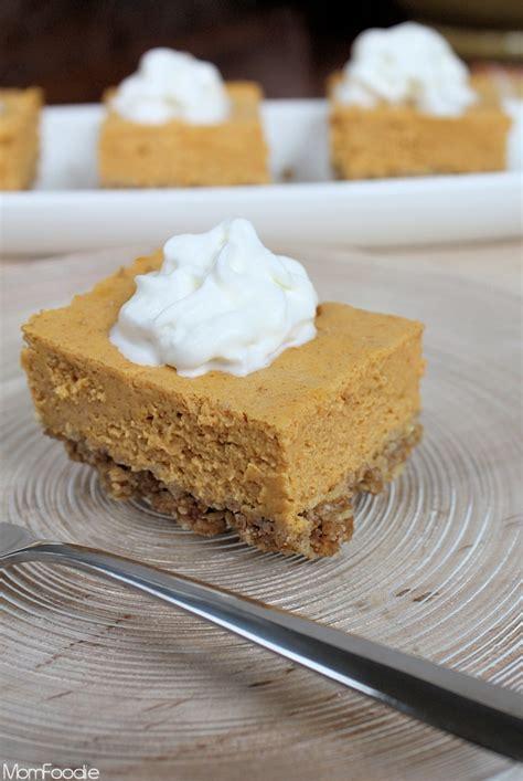 light pumpkin dessert recipes light pumpkin cheesecake bars recipe a diet friendly fall