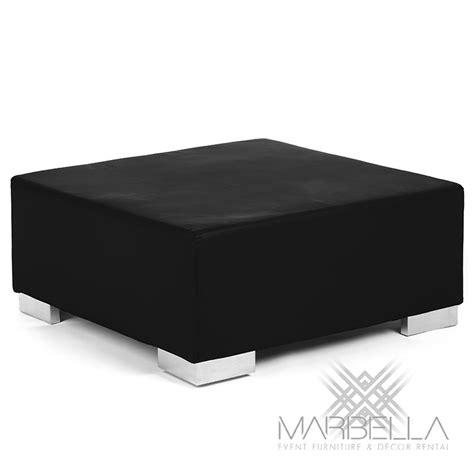 Black Square Ottoman Mondrian Opus Square Ottoman Black