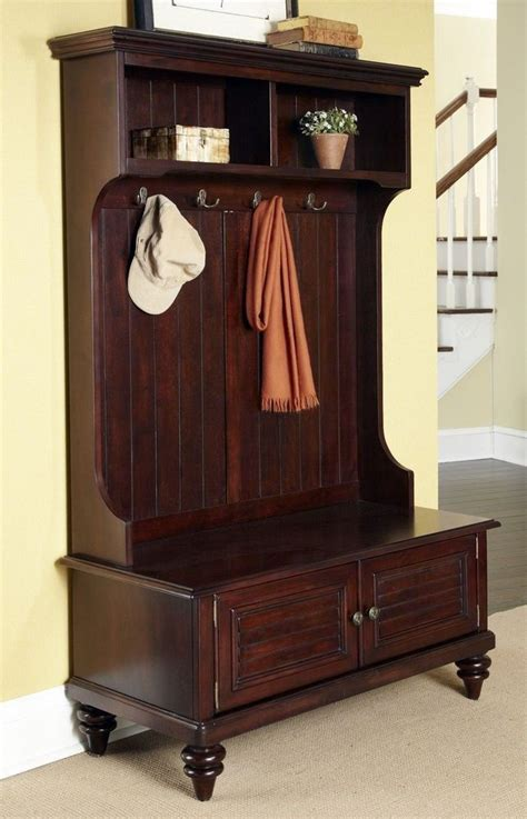 antique hall tree storage bench hall tree storage bench entryway coat rack stand antique furniture hooks cottage ebay