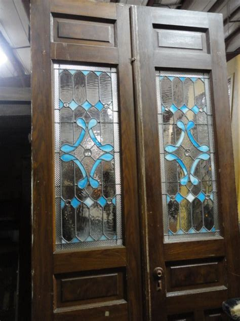 Reclaimed Stained Glass Doors Antique Doors Furniture For Sale In Pennsylvania Oley Valley Architectural Antiques Ltd