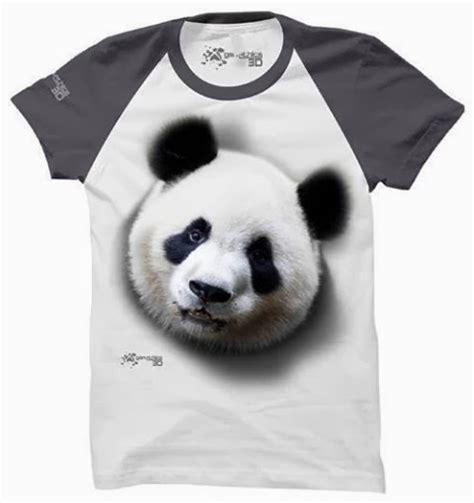 Kaos 3d New Panda kaos 3d panda tshirt 3 dimensi