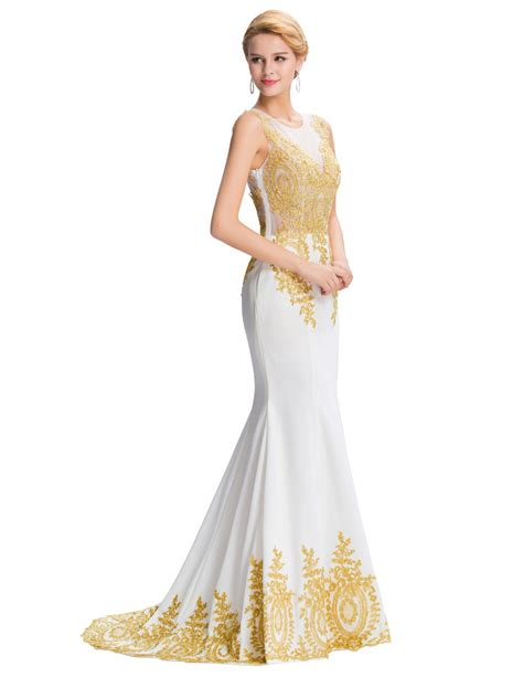 embroidery design gown 2017 new design gold embroidery mermaid evening dresses