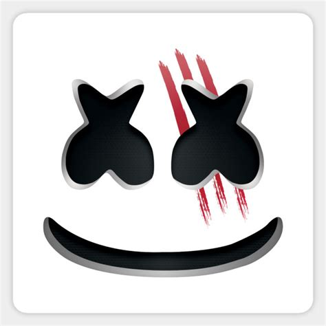 bloody marshmello marshmello sticker teepublic