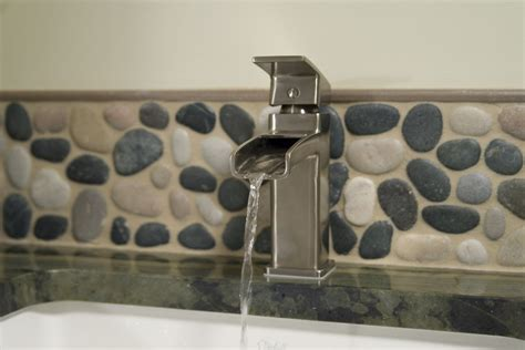 Tile Ideas For Small Bathroom Gorgeous Waterfall Faucet In Bathroom Asian With Cabana
