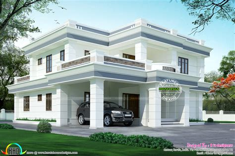 www kerala home design blogs modern flat roof house in 395 sq yd kerala home design