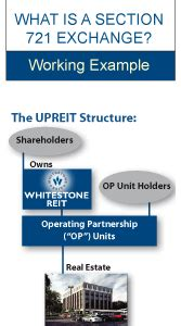 irc section 721 upreit whitestone reit houston texas