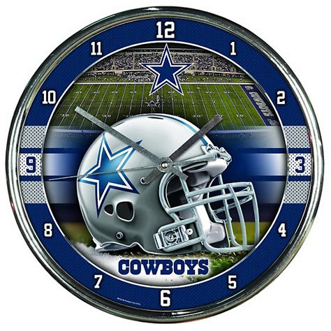dallas cowboys home decor dallas cowboys chrome graphic clock home decor home