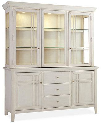 Dining Room Hutch Macy S Edgewater White 2 Pc Buffet Hutch Furniture Macy S