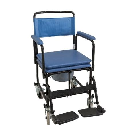 silla plegable tapizada  ruedas ayuda  el aseo