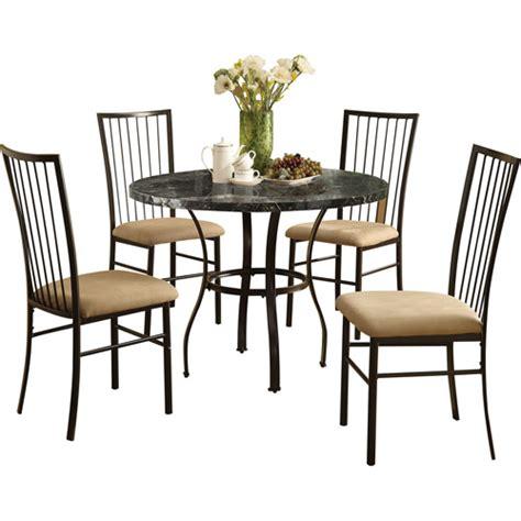 Dining Table Sets Walmart Darell 5 Dining Set Black Walmart