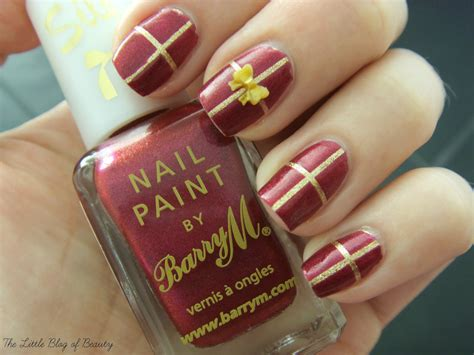 christmas nail art gift wrapped nails the little blog