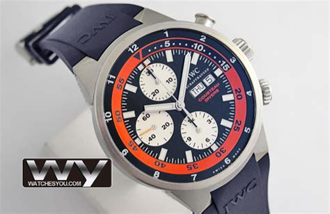 Iwc Schaffhausen Aquatimer Chronograph Swiss Clone 1 1 Whate iwc aquatimer cousteau divers chronograph replica iw378101