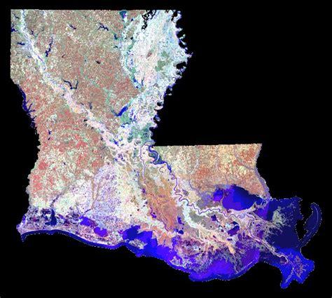louisiana coast map maps
