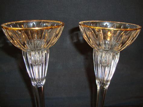 mikasa crystal golden tiara single light candlestick from