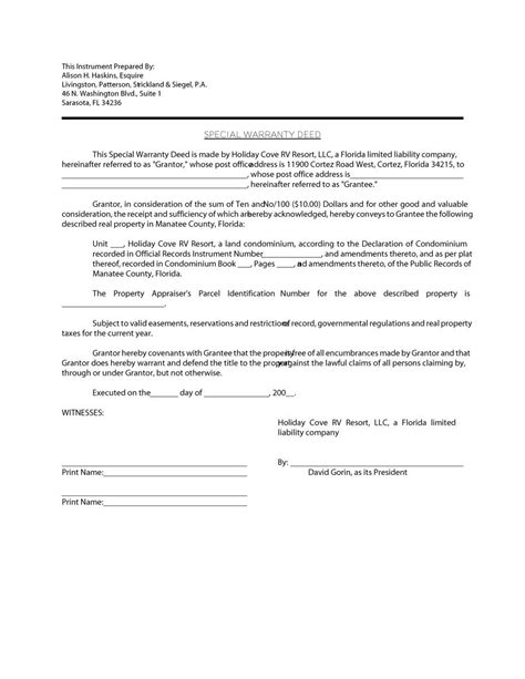 43 free warranty deed templates forms general special