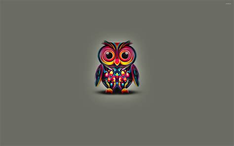 colorful owl wallpaper cute owl with colorful bright feathers wallpaper digital