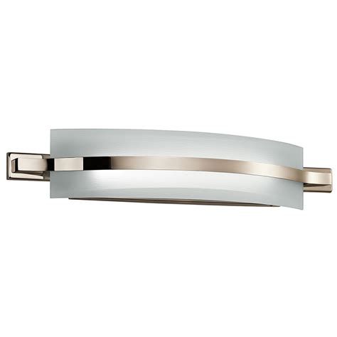 bathroom light fixtures led kichler 42091pnled freeport modern polished nickel led