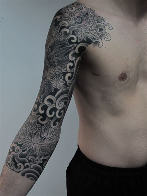 random tattoo sleeve this jorge teran sleeve black work