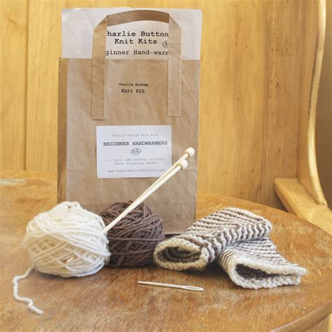 knitting kit for beginner knitting kit warmers and coffee