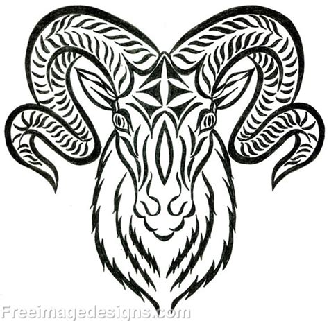 tribal ram head tattoo www imgkid com the image kid