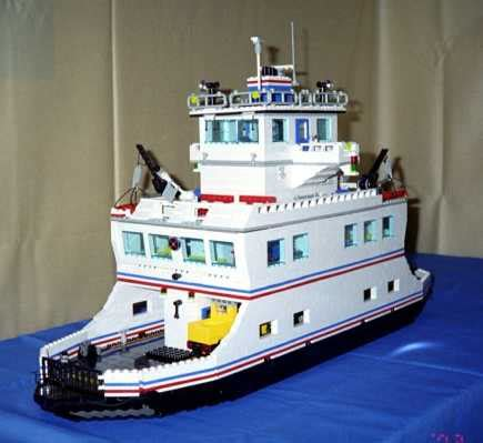 lego instructions for car ferry model by lions gate models - Lego Ferry Boat