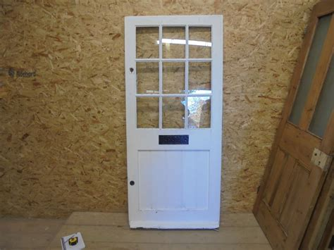 Half Glazed Exterior Doors White Half Glazed 4 Panelled Front Door Authentic Reclamation
