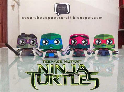 Tmnt Papercraft - square papercraft mutant turtles 2014