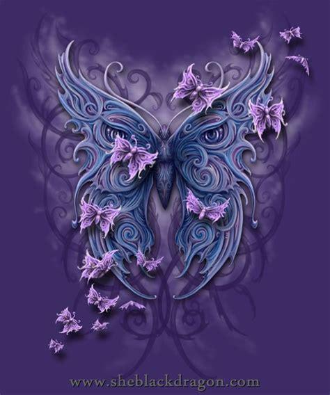 butterfly tribal by sheblackdragon on deviantart