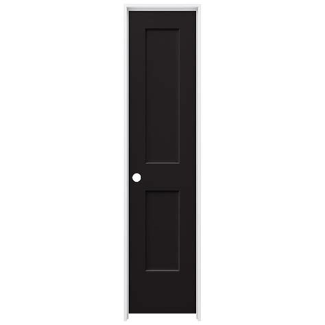 jeld wen 22 in x 80 in smooth 2 panel black solid